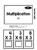 Multiplication Task Box 3's