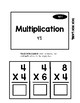 Multiplication Task Box 4's