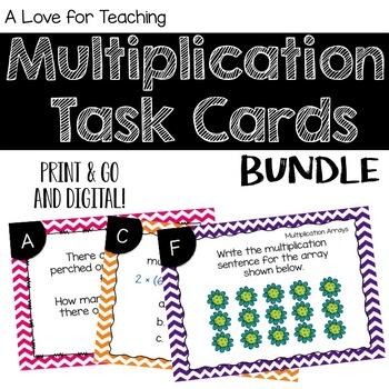 Multiplication Task Card BUNDLE {Digital}