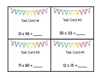 Multiplication Task Card Bingo