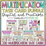 Multiplication Task Card Bundle | Distance Learning | Google Classroom