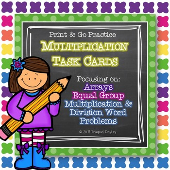 Multiplication Task Card Collection 2-3 Grade with Recording Sheet & Key