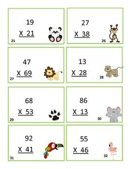 Multiplication Task Card Game-Free