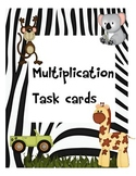 Multiplication Task Card Game-Free