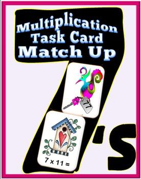 Multiplication Task Card Match Up- 7's
