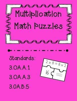 Multiplication Task Card Puzzles