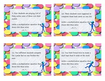 Multiplication Task Cards 0