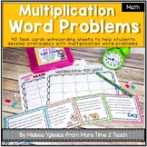 Multiplication Word Problems Task Cards {Common Core}