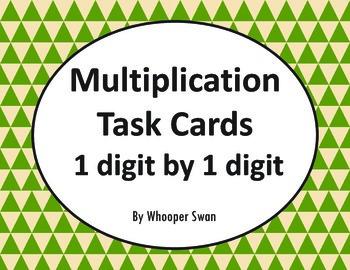 Multiplication Task Cards (1 digit by 1 digit)