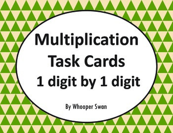 Multiplication Task Cards (1 digit by 1 digit)