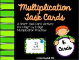 Multiplication Task Cards: 1 digit by 2 digit