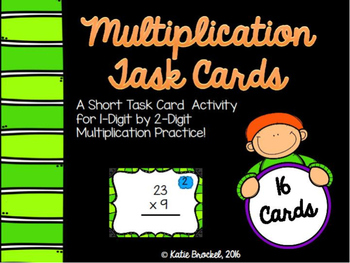 Multiplication Task Cards: 1 digit by 2 digit