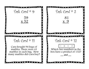 Multiplication Task Cards