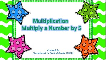 Multiplication Task Cards: Multiply a Number by 5