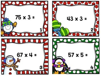 Multi-Digit Multiplication {Task Cards}