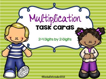 Multiplication Task Cards - Multiplying by 2-Digit Numbers