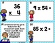 Multiplication Task Cards 2 Digit by 1 Digit Problems with Optional QR Codes