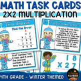 Winter Math: 2 Digit by 2 Digit Multiplication Task Cards 4th Grade