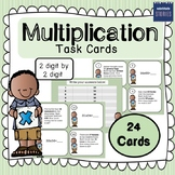 Multiplication Task Cards (2 by 1 digit & 2 by 2 digit)