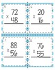 Multiplication Task Cards! 2 by 2 Digit with Recording Sheet & Answer Key!