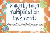 Multiplication Task Cards! 2 digit by 1 digit HUGE pack! D