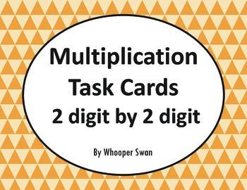 Multiplication Task Cards (2 digit by 2 digit)