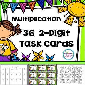 Spring Multiplication Task Cards