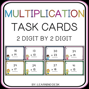 2 Digit By 2 Digit Multiplication Task Cards