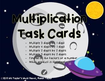 Multiplication Task Cards 4.4D