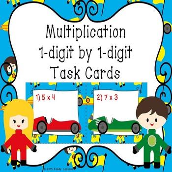 Single Digit Multiplication Task Cards