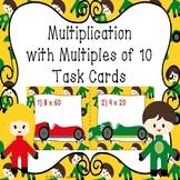 Multiplication 3rd Grade Multiplying by Multiples of 10 Task Cards Math 3.NBT.3