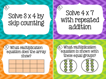 Multiplication Strategy Task Cards/Scoot