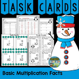 Winter Multiplication Basic Facts Task Cards