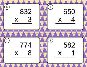 Multiplication Task Cards (3 digit by 1 digit)