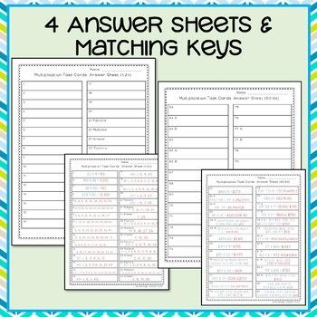 Multiplication Task Cards 4th Grade