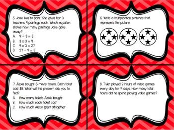 Multiplication Task Cards {3.OA.1} {3.OA.3}