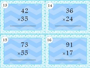 Multiplication Task Cards 4.NBT.5