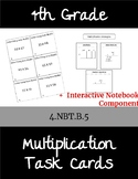 Multiplication Task Cards 4.NBT.B.5
