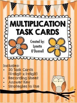 Multiplication Task Cards (4-digit x 1-digit) COMMON CORE ALIGNED