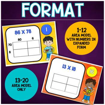 Multiplication Task Cards (Area Model)