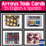 Multiplication Task Cards: Arrays in English & Spanish