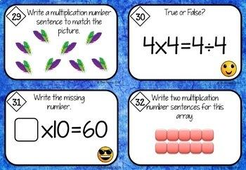 Multiplication Task Cards Australian Curriculum Year 2