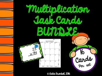 Multiplication Task Cards BUNDLE!