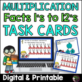 Multiplication  Task Cards -Back to School Theme- FREE!