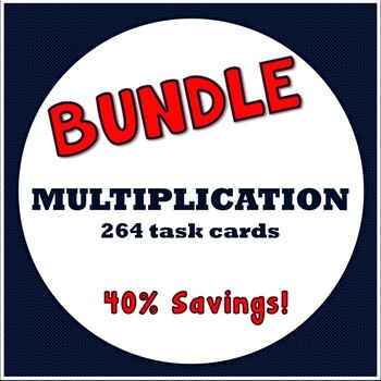 Multiplication Task Cards Bundle - 50% Saving!