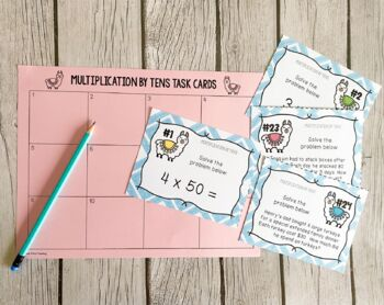 Multiplication By Tens, Task Cards