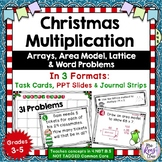 Multiplication Task Cards Christmas Theme  (31 Task Cards