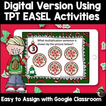 Multiplication  Task Cards - (Christmas Theme)
