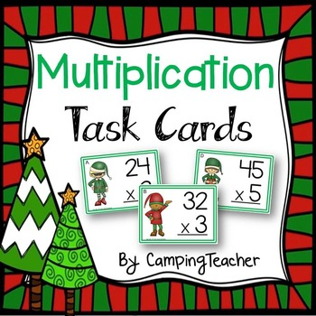 Multiplication Task Cards - Christmas Theme