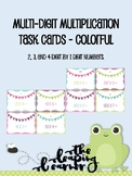 Multiplication Task Cards - Colorful